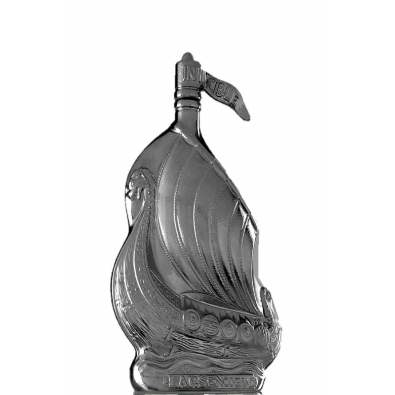 Drakkar Dragon Sculpté Chromé Cognac Larsen
