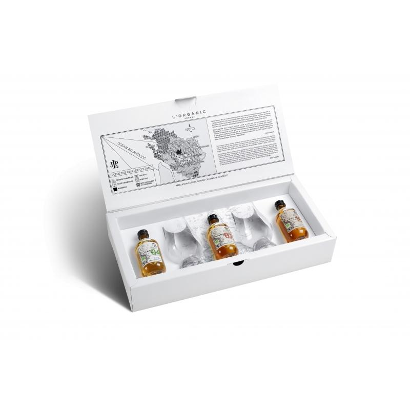 Coffret L'Organic avec 2 verres Cognac Pasquet