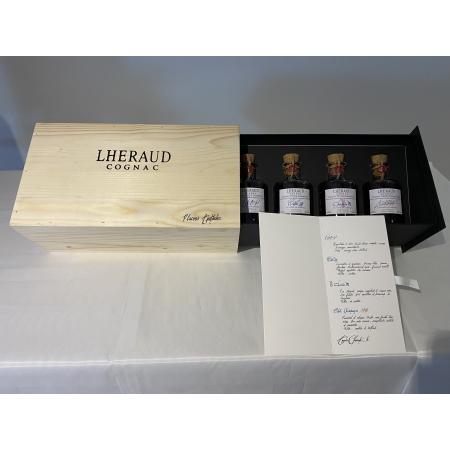 Coffret Dégustation 4x20cl Cognac Lheraud